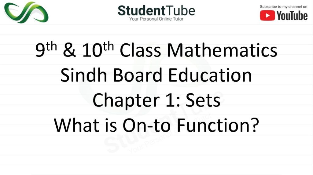 What is Onto Function? Chapter 1