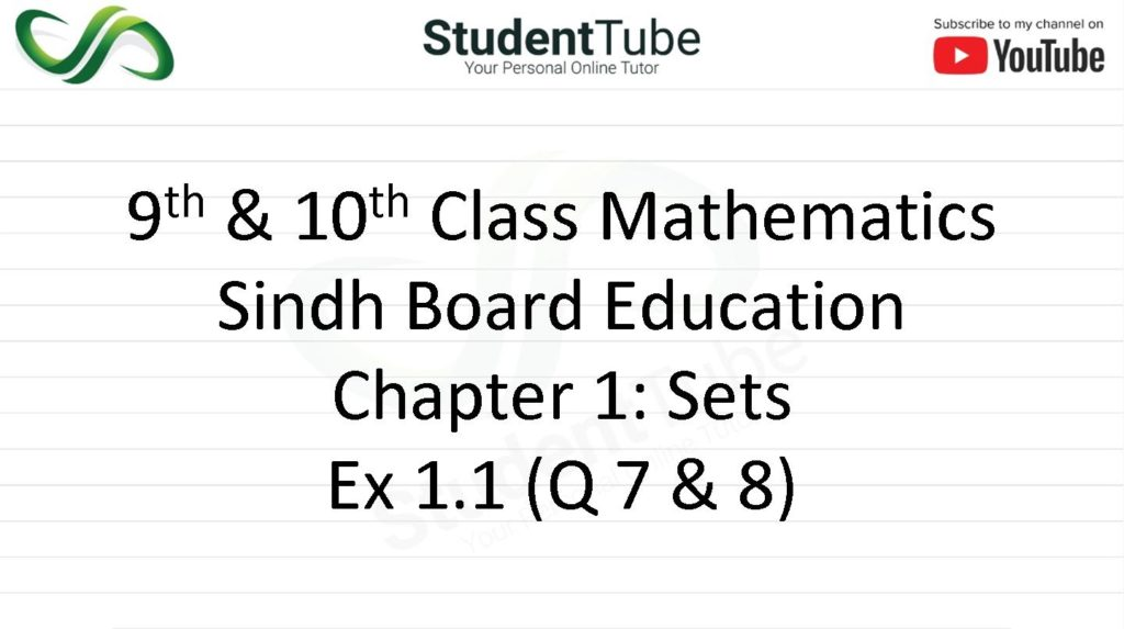 Exercise 1.1 - Chapter 1 - Q 7 & 8