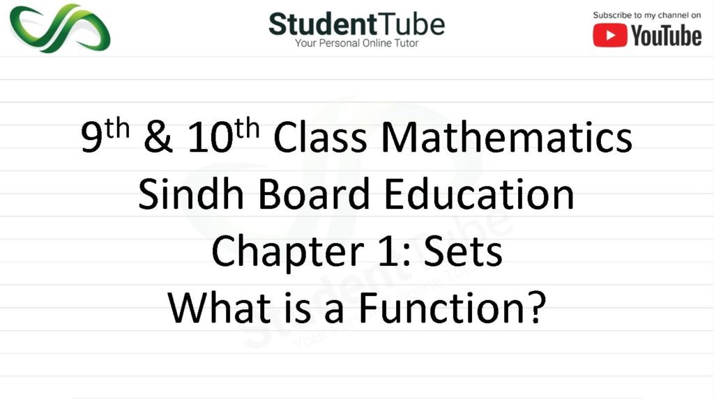 What is a Function? - Chapter 1