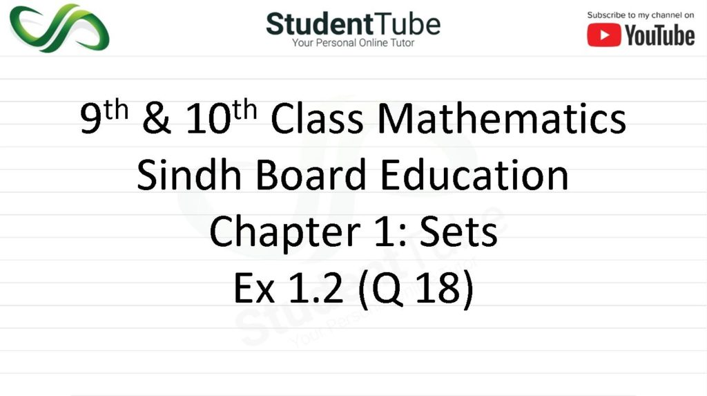 Chapter 1 - Exercise 1.2 Q 18