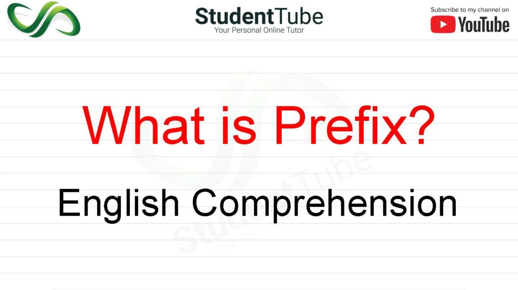 What is Prefix? - English Comprehension by Student Tube
