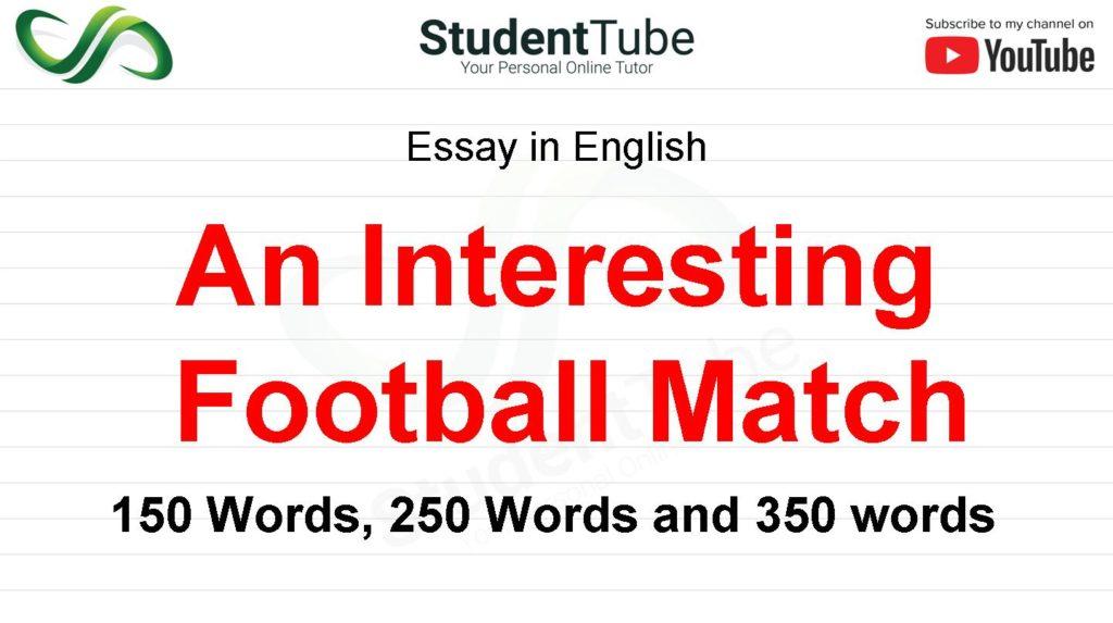 An Interesting Football Match