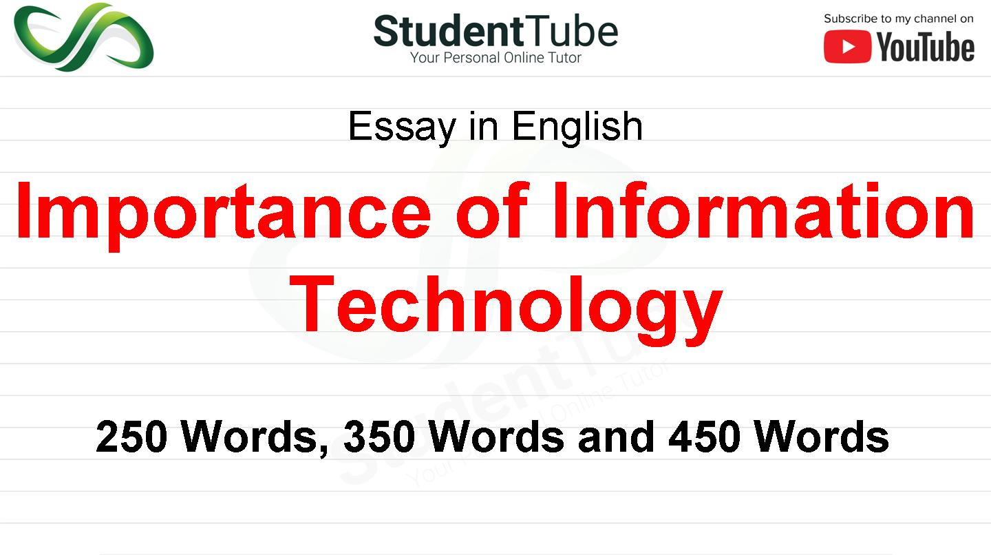 Importance of Information Technology