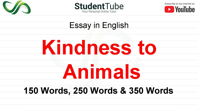 Kindness to Animals