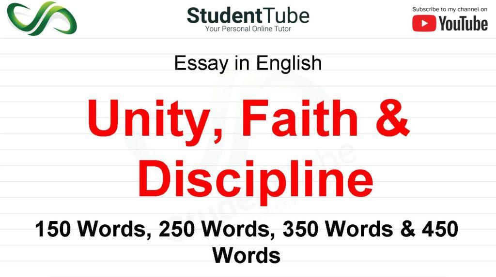 Unity, Faith, and Discipline