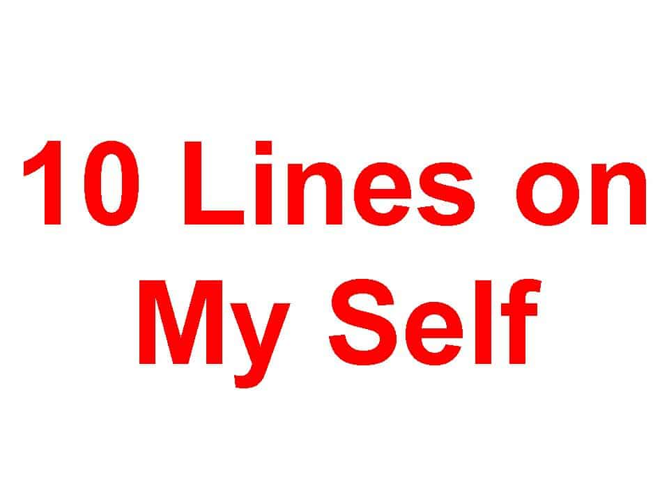 10 Lines on My Self