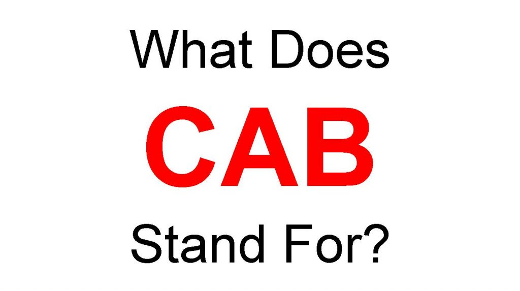 CAB Full Form- What Does CAB Stand For?