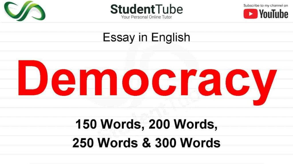Democracy Essay or What is Democracy