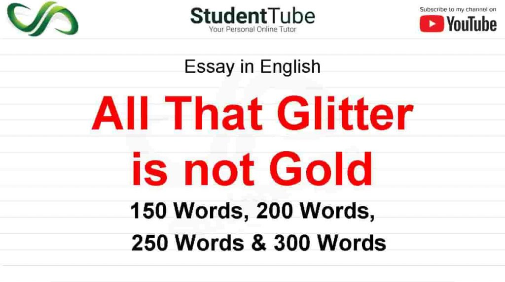 All That Glitter is not Gold