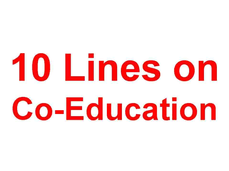 10 Lines on Co-Education