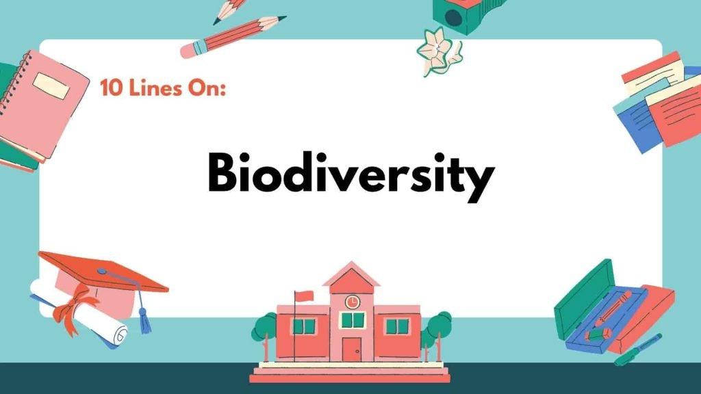 10 Lines on Biodiversity