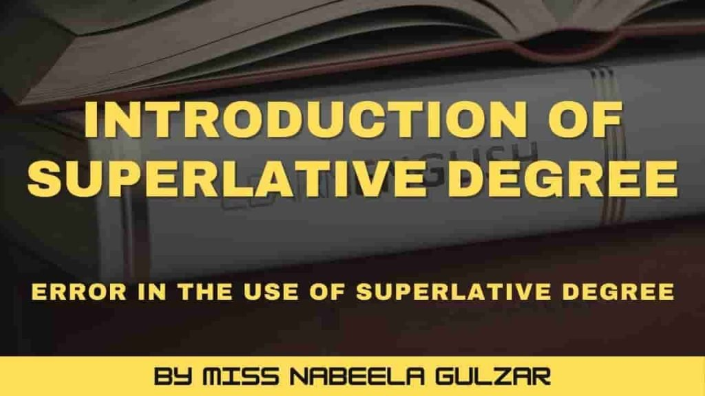 Errors in the Use of Superlative Degree