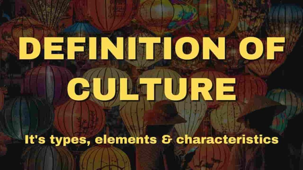 Definition of Culture