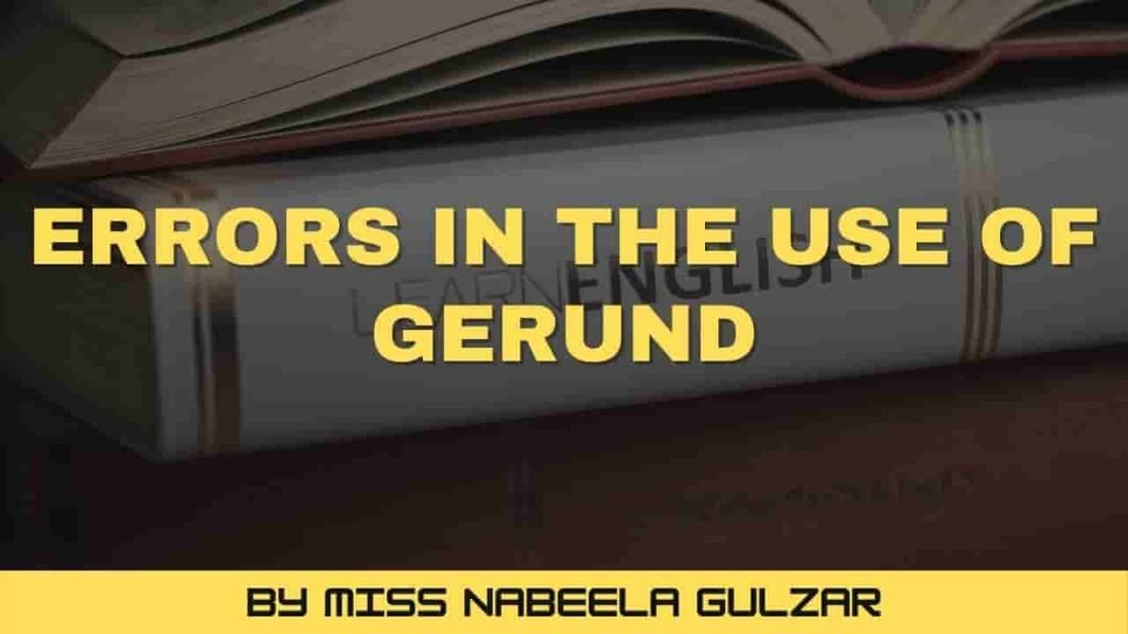 Errors in the use of Gerund