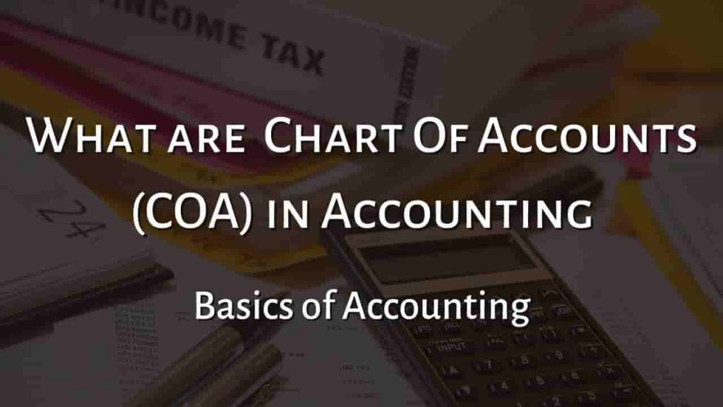Chart of Accounts (COA)