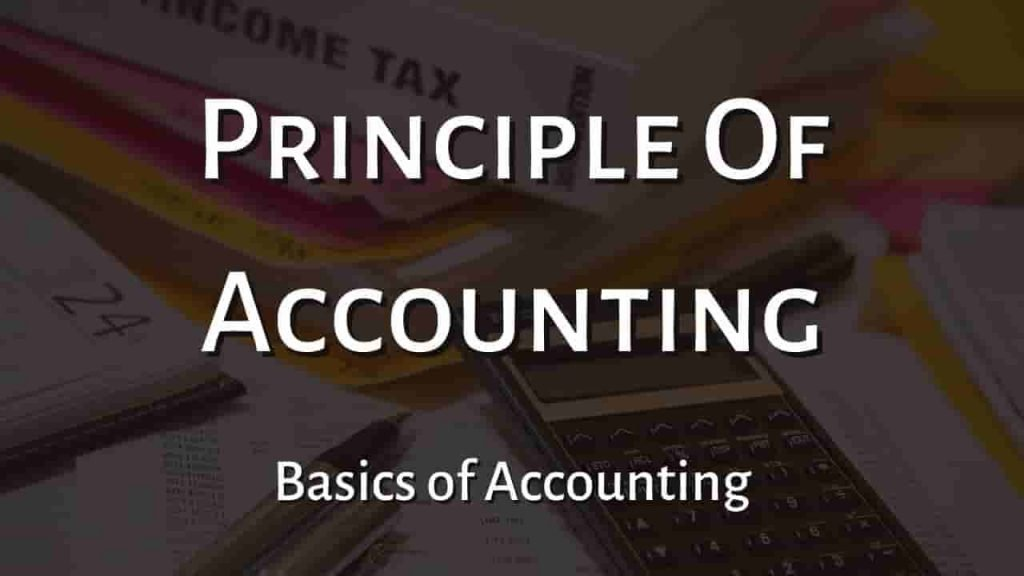 Principle Of Accounting