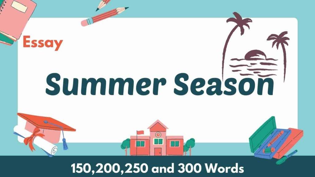 Summer Season Essay