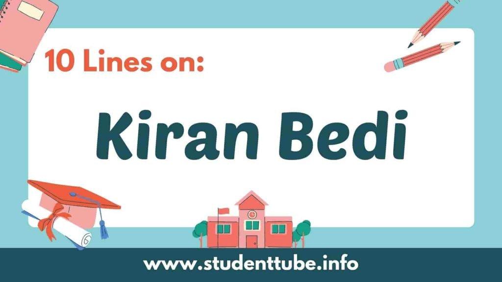 10 Lines on Kiran Bedi