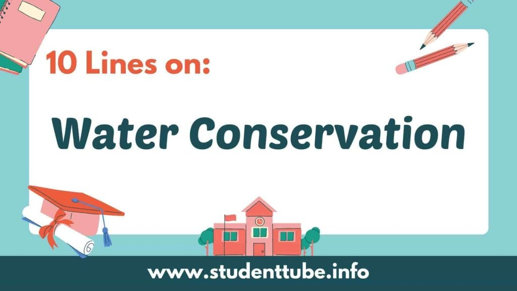 10 Lines on Water Conservation