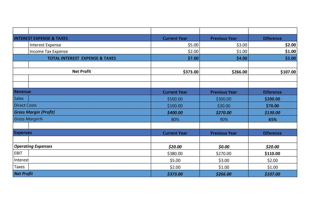 Multi-step Income Statement Example 2