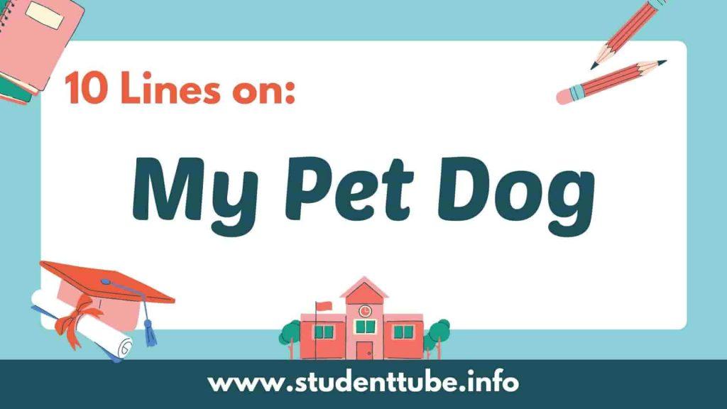 10 Lines on My Pet Dog