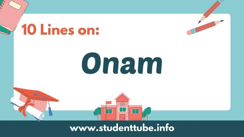 10 lines on Onam