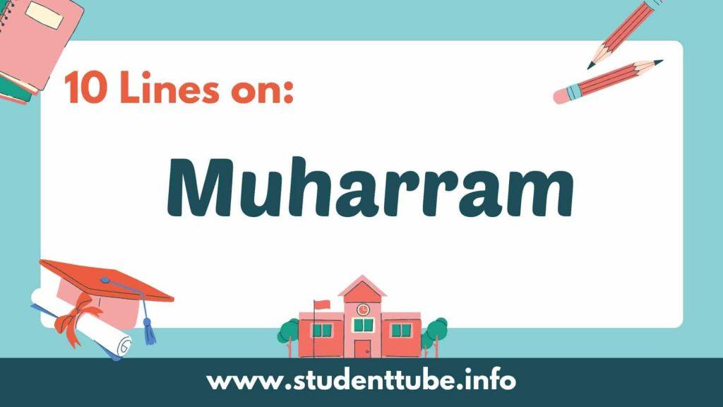 10 Lines on Muharram